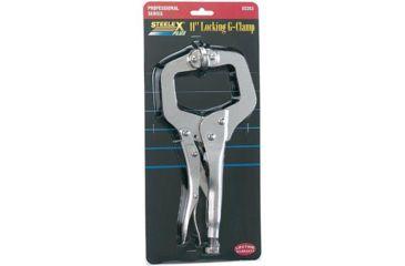 Steelex Locking G-Clamp, 11 in. Long w/ Swivel Pads D2263