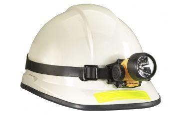 Trident UL LED Yellow Headlamp / Flashlight 61049 on Helmet