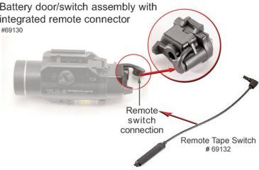 KIT69132 Streamlight Battery Door/ Switch Assembly 69130 w/ Remote Switch Tape 69132