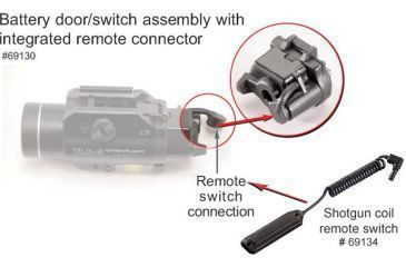 KIT69134 Streamlight 69130 Battery Door Switch Assembly w/ Shotgun Coil Remote Switch 69134