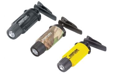 Streamlight Clipmate LED Flashlights - with Elastic strap headband, lanyard, alkaline batteries
