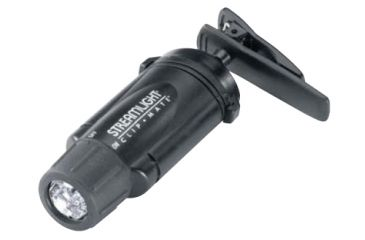 Streamlight Clipmate Green LED Flashlight, headband, battery - Black