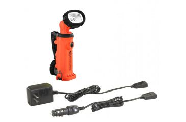 Streamlight Orange Knuckle Head w/ Clip & 120V AC/12V DC Steady Charge