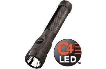 Streamlight PolyStinger LED Flashlight Fast Charge PiggyBack with DC Fast Charger - PiggyBack Holder - Black - 76137