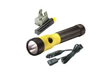 Streamlight PolyStinger LED Flashlight Fast Charge PiggyBack with DC Fast Charger - PiggyBack Holder - Yellow - 76187