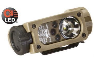 Streamlight Sidewinder Compact Tactical Flashlights - White C4 LED, Red, Green, Blue LEDs - Coyote