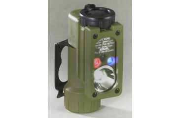Streamlight Sidewinder Compact Flashlight - White C4 LED, Red, Green, Blue LEDs - Olive Drab