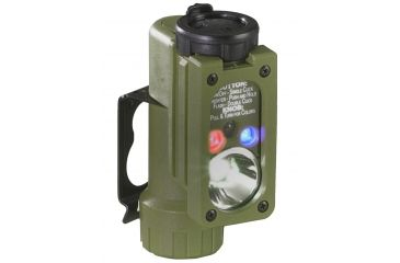 Streamlight Sidewinder Compact Tactical Flashlight, Olive Drab - White, Red, Blue, IR LEDs w/ Helmet Mount & Battery, Boxed 14101
