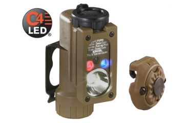 Streamlight Sidewinder Compact Tactical Flashlight, Coyote Tan - White, Red, Blue, IR LEDs - w/ Helmet Mount 14100