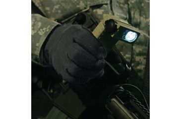 The 1/2 watt super-bright white LED of the Streamlight Sidewinder Military Tactical Flashlight