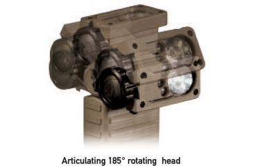 Articulating 185-degree rotating head of the Streamlight Sidewinder