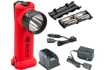 Streamlight Survivor-LED 90503, Orange - AC and DC chargers, charging base, alkaline battery pack