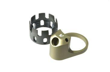 14-Strike Industries AR QD Enhanced Castle Nut and Extended End Plate