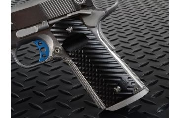 Strike Industries Polymer Extreme Slim CNC 1911 Pistol .25 Grip Diamond Cutter - Dual Texture, Matte Finish PX18