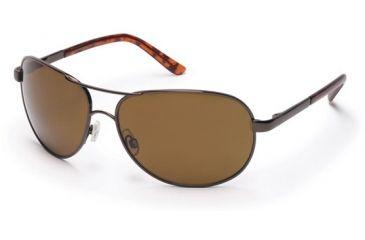 Suncloud Aviator Sunglasses, Brown Frame, Brown Polarized Polycarbonate Lens S-AVPPBRBR