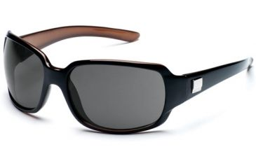 Suncloud Cookie Sun Glasses, Black Backpaint Frame, Gray Polarized Polycarbonate Lens S-COPPGYBK