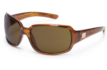 Suncloud Cookie Sun Glasses, Whiskey Stripe Frame, Brown Polarized Polycarbonate Lens S-COPPBRWS