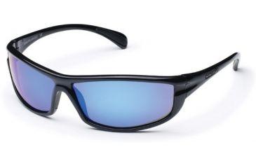 Suncloud King Sunglasses, Black Frame, Blue Mirror Polarized Polycarbonate Lens S-KNPPUMBK