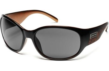 Suncloud Polarized Optics Carousel Sunglasses - Black Backpaint Laser Frame, Gray Polarized Polycarbonate Lenses S-CAPPGYBC