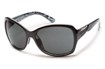 Suncloud Polarized Optics Cassandra Sunglasses - Black Backpaint Frame/Gray Polarized Polycarbonate Lens S-CRPPGYBK