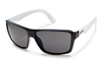 Suncloud Polarized Optics Colfax (New) Sunglasses - Black / Smoke Temple Frame, Gray Polarized Polycarbonate Lenses S-CFPPGYSM
