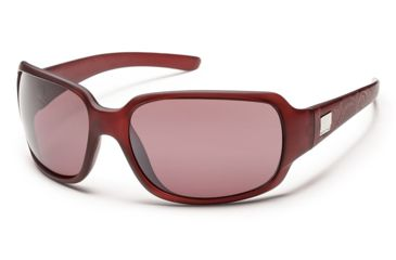 Suncloud Polarized Optics Cookie Sunglasses - Merlot Laser Frame/Rose Polarized Polycarbonate Lens S-COPPRSMR