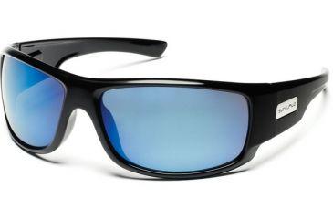 Suncloud Polarized Optics Impulse Sunglasses - Black Frame, Blue Mirror Polarized Polycarbonate Lenses S-IMPPUMBK