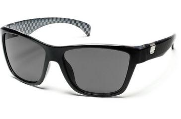 Suncloud Polarized Optics Speedtrap Sunglasses - Black Backpaint Frame, Gray Polarized Polycarbonate Lenses S-SPPPGYBK