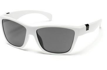 Suncloud Polarized Optics Speedtrap Sunglasses - White Frame, Gray Polarized Polycarbonate Lenses S-SPPPGYWT