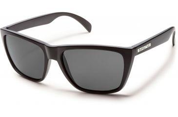 42446d85d4 Suncloud Polarized Optics Standby Sunglasses - Matte Black Frame Gray  Polarized Polycarbonate Lens S-