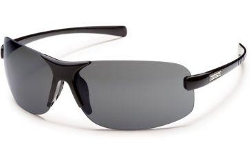 Suncloud Polarized Optics Ticket (New) Sunglasses - Black Frame, Gray Polarized Polycarbonate Lenses S-TKPPGYBK