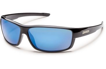 Suncloud Polarized Optics Voucher (New) Sunglasses - Black Frame, Blue Mirror Polarized Polycarbonate Lenses S-VCPPUMBK