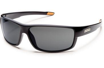 Suncloud Polarized Optics Voucher (New) Sunglasses - Black Frame, Gray Polarized Polycarbonate Lenses S-VCPPGYBK