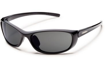 Suncloud Polarized Optics Wisp (New) Sunglasses - Black Frame, Gray Polarized Polycarbonate Lenses S-WSPPGYBK