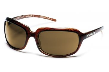 SunCloud Poppy Sunglasses with Cola Backpaint Frames, Brown Lenses