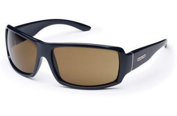 Suncloud Roadie Sun Glasses, Navy Frame, Brown Polarized Polycarbonate Lens S-ROPPBRNV