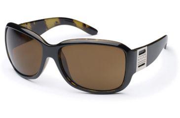 Suncloud Runway Sunglasses, Black Backpaint Frame, Brown Polarized Polycarbonate Lens S-RWPPBRBK