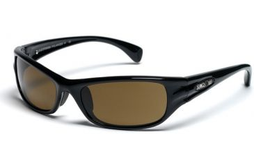 Suncloud Star Sunglasses, Black Frame, Brown Polarized Polycarbonate Lens S-STPPBRBK