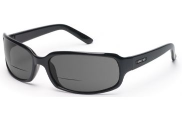 Suncloud Uptown Sunglasses, Black Frame, Gray Polarized Reader Lens