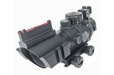1-Sun Optics 4x32 Prismatic IR Red Dot Sight w/ Fiber Optic Sights