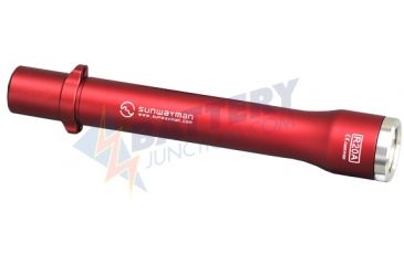 Sunwayman R20A in Red - 150 Lumen LED Flashlight with CREE R4 Neutral White LED - Uses 2 x AA, Red SUNWAYMAN-R20A-RED