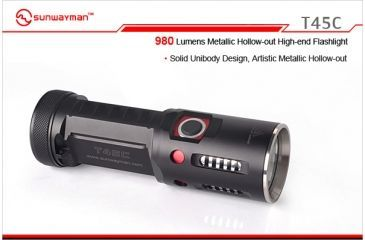 Sunwayman T45C Metallic Hollow-out Torch LED Flashlight with 980 Lumens SUNWAYMAN-T45C-XML2