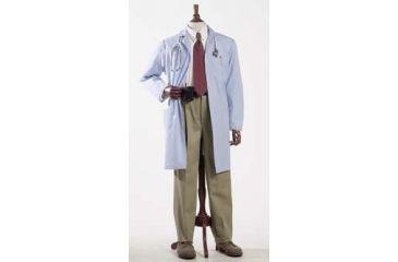 Superior Uniform Unisex Polyester/Combed Cotton Poplin Lab Coats, WORKLON 430-2XL Labcoat Unisex Bl Poplin 2XL