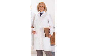 Superior Uniform Womens Polyester/Combed Cotton Poplin Lab Coats, WORKLON 438-3XL Labcoat Lady Wh Poplin 3XL