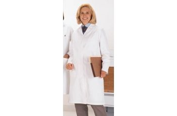 Superior Uniform Womens Polyester/Combed Cotton Poplin Lab Coats, WORKLON 438-M Labcoat Lady Wh Poplin M