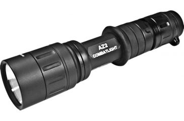 SureFire AZ2 LED Flashlight, Black Hard Combatgrip, Dual Output White LED, AZ2-BK-WH