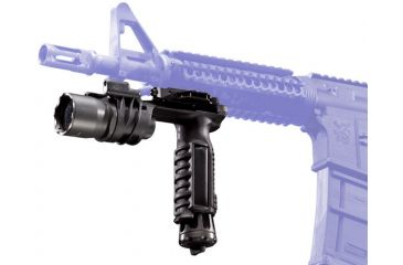 SureFire M900A Picatinny Rail Vertical Foregrip Weaponlight - A.R.M.S. Throw-Lever Mount - shown mounted