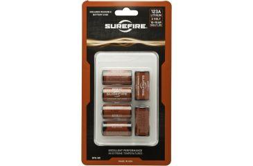 Surefire SF123A Lithium Battery Box, 6 Batteries, 3 Volt, Holder SF6-BC