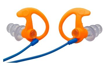 Surefire Sonic Defender Max EP5 Hearing Protectors, Large, Orange, 1 Pair EP5-OR-LPR
