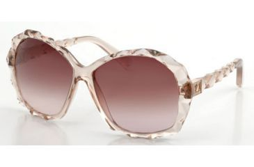 Swarovski Amazing Sunglasses SK0002 - Shiny Pink Frame Color, Gradient Brown Lens Color